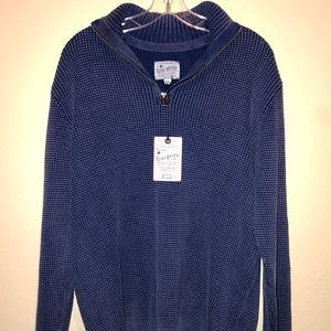 Lucky Brand Navy Blue Mens Sweater Size Large